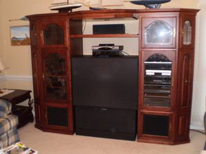 Cherry Solid Wood Entertainment center for Sale in Guyton, GA