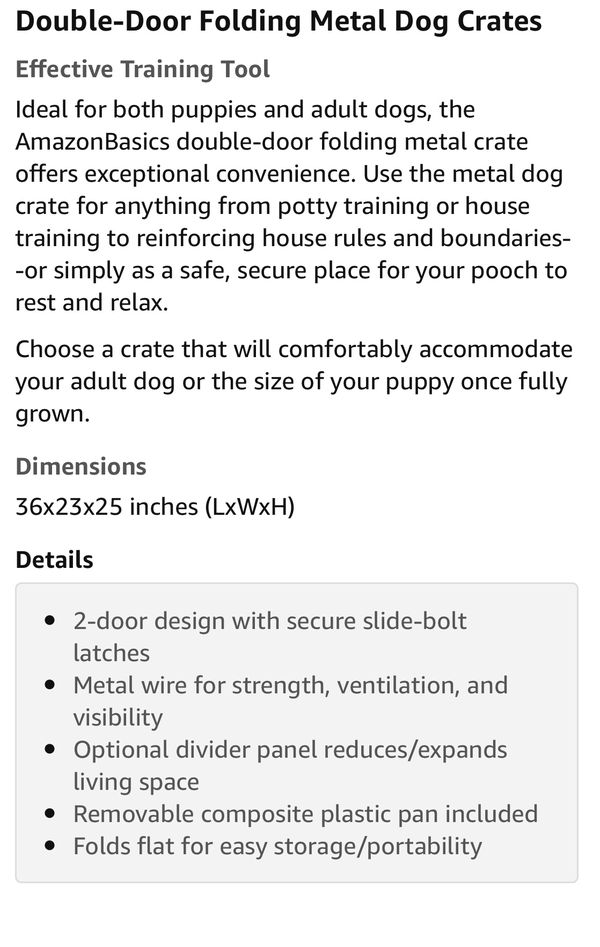 Brand New Large Dog Crate