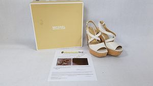 Michael Kors cream Wedges size 7M for Sale in Madison Heights, VA