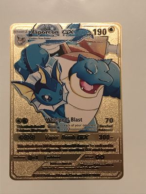 Vaporeon GX Metal Pokemon Card for Sale in Greenacres, FL