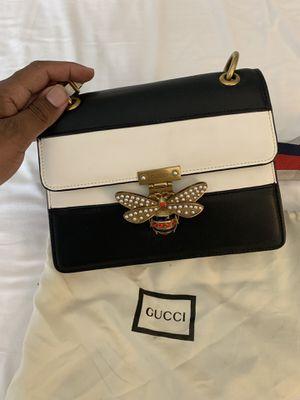 Shoulder New Queen Margaret Bee stripe Black Leather Cross body bag for Sale in Las Vegas, NV