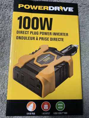 Brand new and available PowerDrive 100 watt power inverter for Sale in Savannah, GA