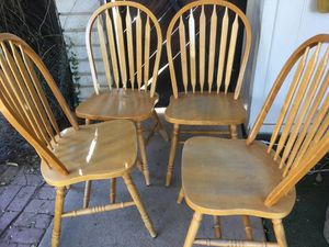 Sturdy kitchen chairs no dining room table just 4 chair for Sale in Glendale, AZ