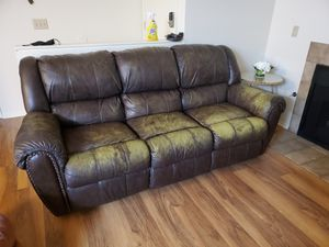 Real leather sofa for Sale in Oceanside, CA