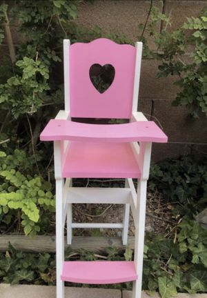 """LOOK!!! AMERICAN GIRL DOLL , OUR GENERATION, BARBIE, ANY 18"""" DOLL WOOD HIGH CHAIR KID'S CHILDREN'S PLAY!!! for Sale in Las Vegas, NV"""