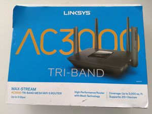 $100 firm or trade, Linksys ac3000 tri band wireless router perfect for high bandwidth use. Trade for brushless bandsaw, jiggsaw, multi tool for Sale in San Diego, CA