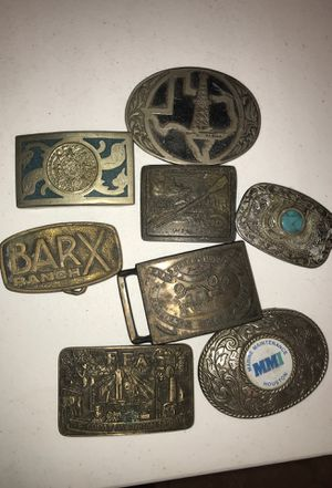 Old belt buckles for Sale in South Houston, TX
