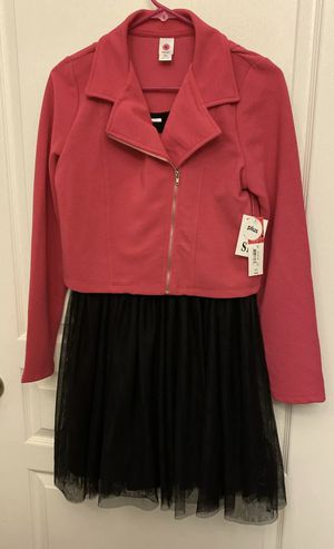 Girls TG Total Girl Black and Pink Dress with Jacket Size 16 1/2 Plus for Sale in Rockville, MD
