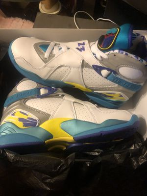 8.5 woman Jordan 8 retro white aqua for Sale in Cleveland, OH