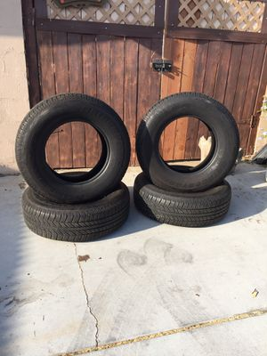 4 tires Bridgestone 265/70/17 90 % thread has 10,000 miles when they were taken off truck for Sale in Ontario, CA
