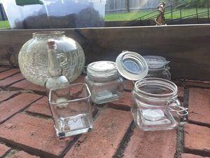 Craft glass jars glass vases for Sale in Largo, FL