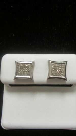 Silver Diamond Earrings for Sale in Columbus, OH