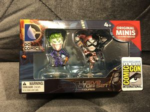 SDCC 2015 DC The Joker & Harley Quinn Exclusive Original Minis Figure 2-Pack for Sale in Fresno, CA