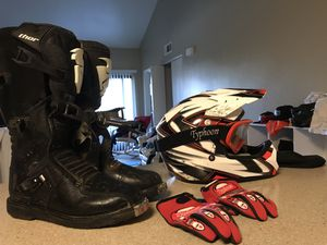 Best Dirt Bike Gear Affordable Typhoon Size 14 Shoes for Sale in Reno, NV