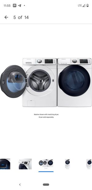 PRICE REDUCED TO MOVE! 4.5 cu. ft. High-Efficiency Front Load Washer And Dryer with Steam and AddWash Door in White, ENERGY STAR for Sale in Los Angeles, CA