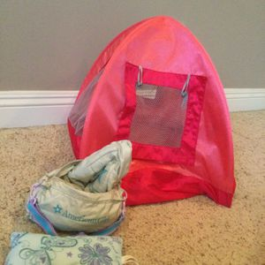 American Girl Doll Tent & Sleeping Bag for Sale in Los Alamitos, CA