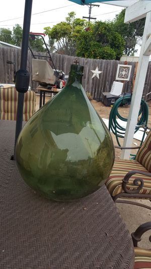 15 gallon hand blown antique demijohn bottle for Sale in Oceanside, CA