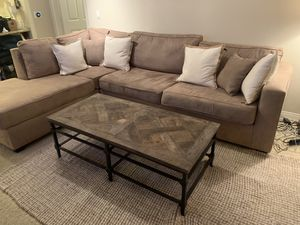 Sectional Sofa -Taupe Suede for Sale in Irvine, CA