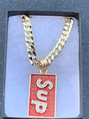 "New Supreme 24"" Cuban Chain 14K Gold Plated Necklace for Sale in Los Angeles, CA"