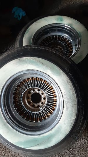 Nice Dayton rims only 2 and white walls. for Sale in Pontoon Beach, IL