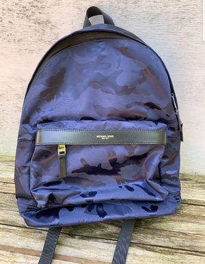Michael Kors Black Blue Camouflage Kempton Large Backpack Bookbag NEW NO TAGS for Sale in Houston, TX