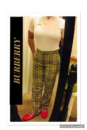 100% AUTHENTIC BURBERRY LONDON NOVA CHECK VINTAGE PANTS SLACKS for Sale in Downey, CA