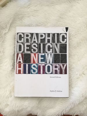 Graphic Design a New History 2nd Edition textbook for Sale in Medina, OH