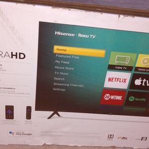 """Hisense Roku 4k Ultra Hd 43"""" Tv Brand New Still In The Box. for Sale in Escondido, CA"""