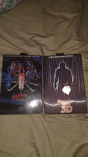 A Nightmare on Elm Street 3 Dream Warriors and Friday 13th Part 3 collectible action figures never open. for Sale in Columbia, SC