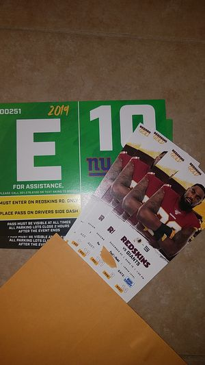 Redskins vs. Giants tickets for Sale in Brandywine, MD