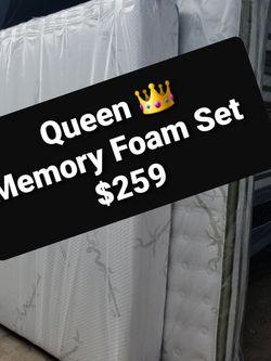 Queen Memory foam Set $259 for Sale in Los Angeles,  CA
