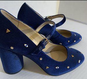 Katy Perry Evil Eye Blue Velvet Heels Size 9.5 for Sale in El Paso, TX