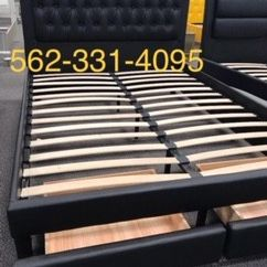 ♦️New Black Tufted Queen Bed w/drawers & Mattress Included♦️ for Sale in CA, US