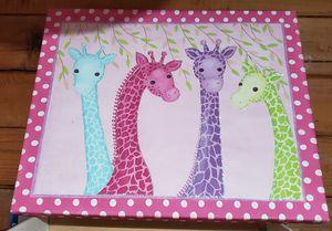 Adorable Giraffe Picture Bright Colors Glitter Accent for Sale in Beaverton, OR