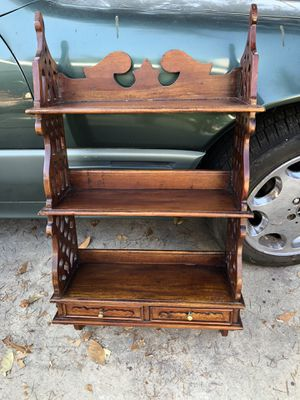 Beautiful antique wall shelves with drawers for Sale in Chino, CA