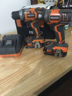 Ridgid 18v Lithium Ion Cordless Drill Set Impact for Sale in Los Angeles, CA