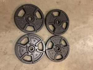 4 new standard 10lb weight plates for Sale in Renton, WA