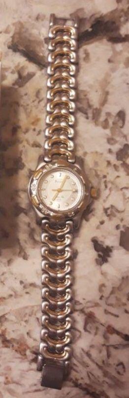 Lady'sBulova Marine Star quartz watch. Fits small wrist.
