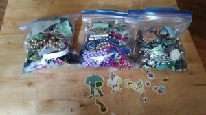 Three bags of miscellaneous jewelry pendant bracelets necklaces for Sale in Hoquiam, WA