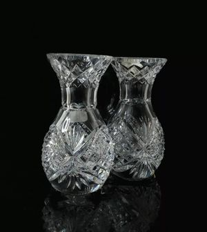 "Heritage Crystal Set of 2 4"" Vases New without Box for Sale in Las Vegas, NV"