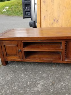 Beautiful Solid Wood Entertainment Center / TV Stand From Costco for Sale in Everett,  WA