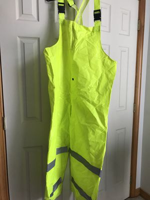 Safety/arc resistant reflective rain proof safety bibs x-large like new for Sale in Mifflinburg, PA