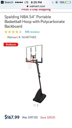 Basketball hoop new for Sale in South Brunswick Township, NJ