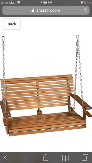 Brand new out-of-the-box wooden porch swing for Sale in Mesa, AZ