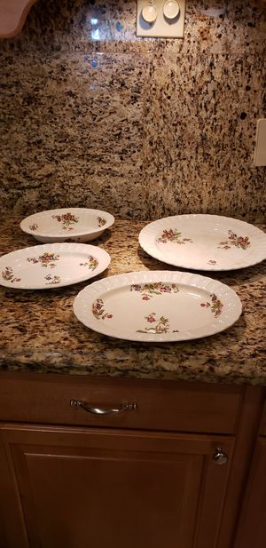 """Antique/Vintage Large Copeland Spode China Serving Dishes """"Wicker Lane"""" - made in England for Sale in Plantation, FL"""