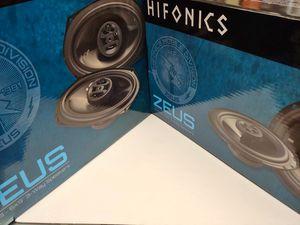 Car speakers : ( total 2 pairs ) 1 pair hifonics 6.5 inch 3 way 300 watts & 1 pair 6×9 3 way 400 watts car speakers for Sale in Bell Gardens, CA