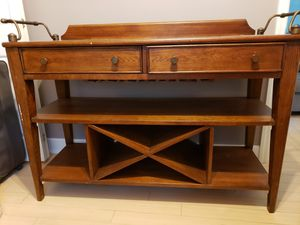 Console table with wine bottle and glass storage for Sale in Brick, NJ