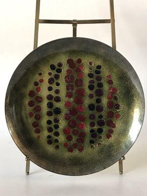 ELIZABETH MADLEY ENAMEL ABSTRACT PLATE 1950 MID CENTURY MODERN ART VINTAGE EAMES for Sale in Los Angeles, CA