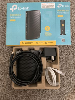 TP-Link - DOCSIS 3.0 Cable Modem - Black for Sale in Norman, OK