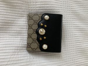 Gucci black NWT Gg pearl studded supreme wallet for Sale in Irvine, CA